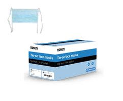 Tipkin mondmasker 3-laags koortjes blauw