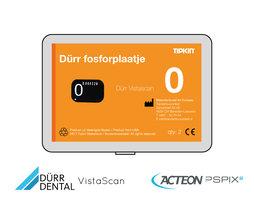 Dürr Vistascan fosforplaatje maat 0 (3+1 gratis)