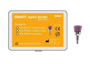 Polijstborstel Smart Nylon medium paars Screw-in