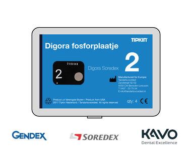 Digora Soredex fosforplaatje maat 2 (3+1 gratis)