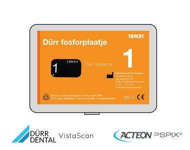 Dürr Vistascan fosforplaatje maat 1 (3+1 gratis)
