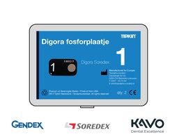 Digora Soredex fosforplaatje maat 1 (3+1 gratis)